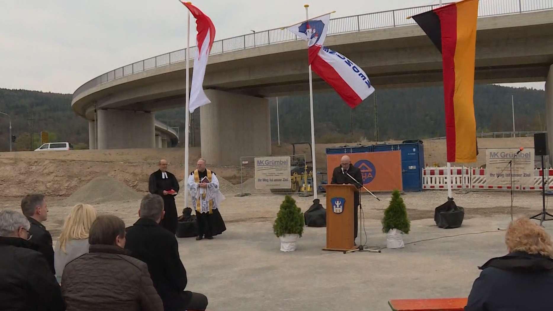 Neue Mainbrücke in Gemünden