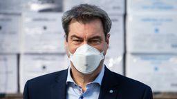 Laut einer Umfrage von Infratest dimap steht die bayerische Bevölkerung mehrheitlich hinter der Corona-Krisenpolitik von Ministerpräsident Söder. | Bild:picture alliance/Sven Hoppe/dpa