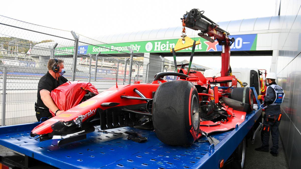 Sebastian Vettels defekter Ferrari