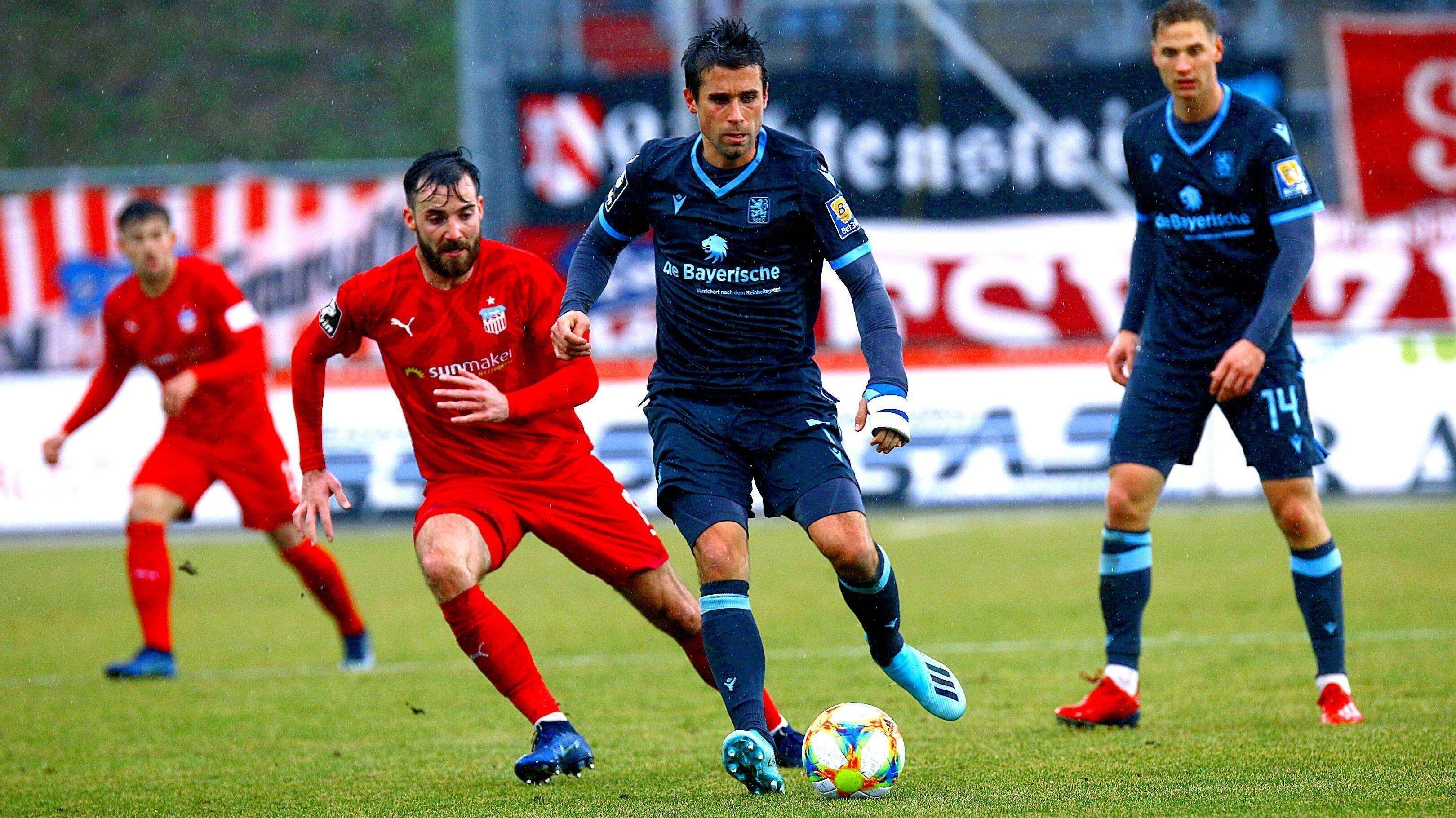 Szene aus dem Spiel Zwickau gegen den TSV 1860 München