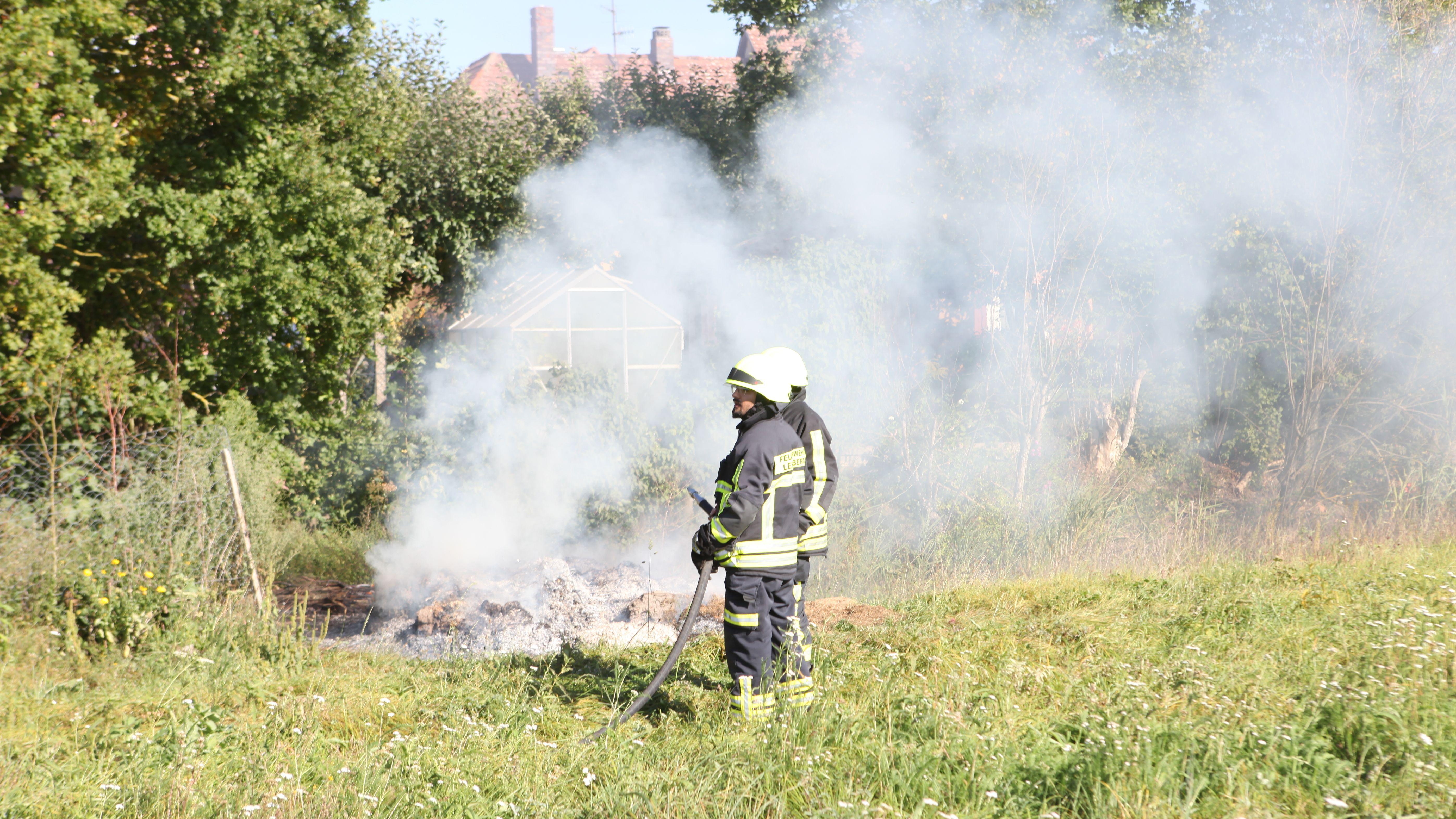 Landkreis Ansbach: Feuerwehr beim Löschen behindert
