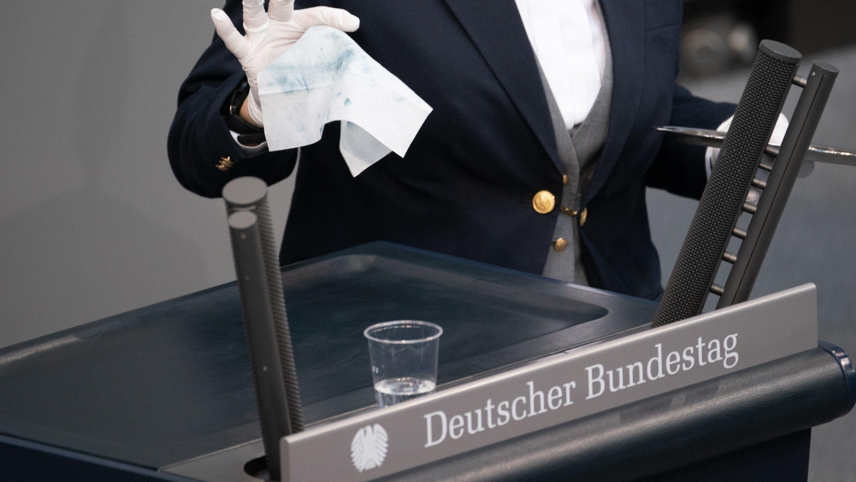 Auch im Bundestag gelten verschärfte Hygiene-Vorgaben.