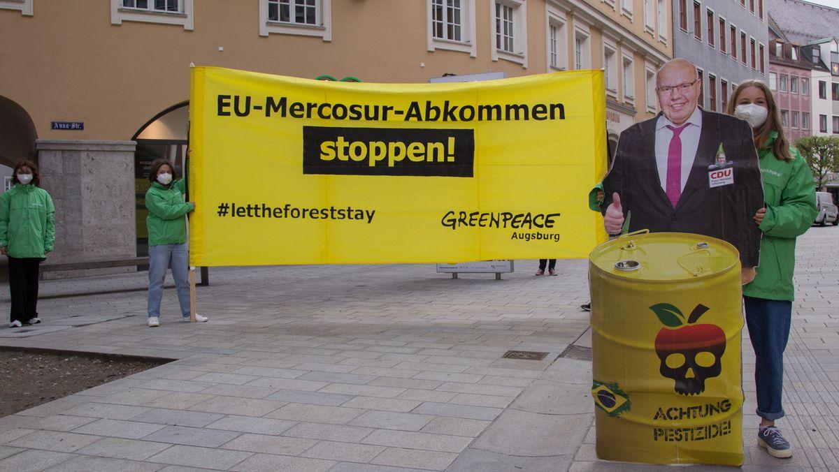 Greenpeace-Protest gegen das EU-Mercosur-Handelsabkommen