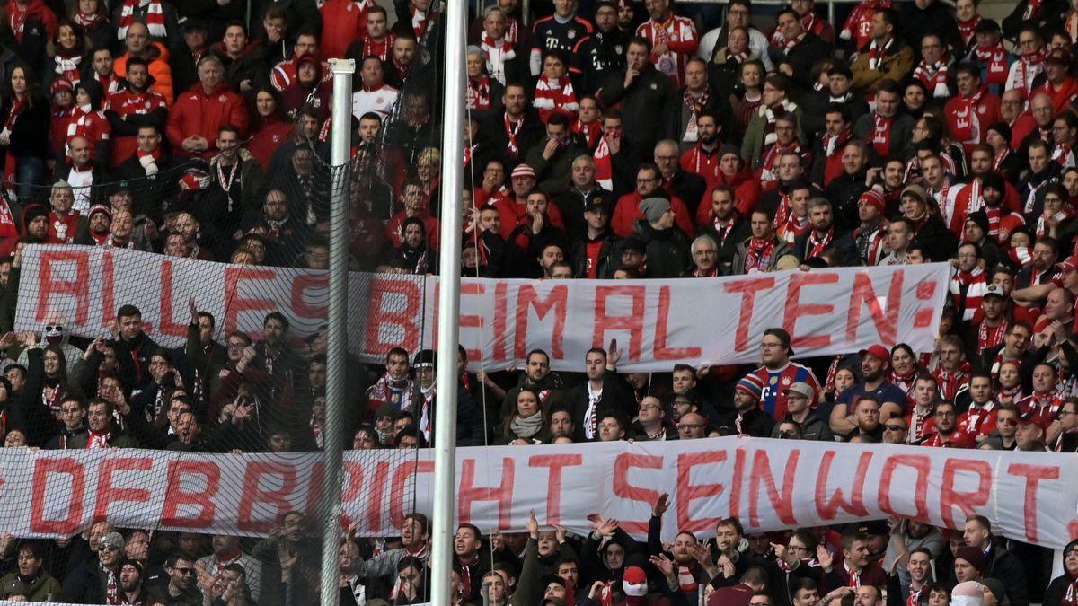 Fanblock des FC Bayern München in Sinsheim am 29. Februar 2020