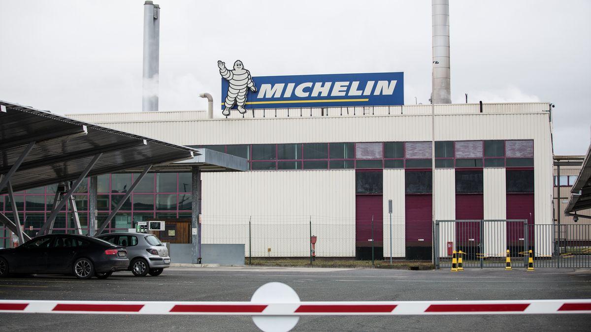Außenansicht von Michelin in Hallstadt am 22. Januar 2021