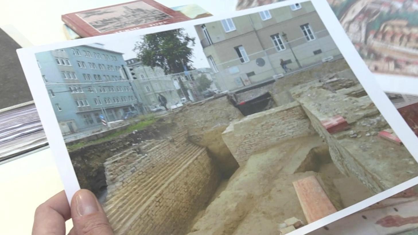 Bild von den Mauerfunden in Augsburg