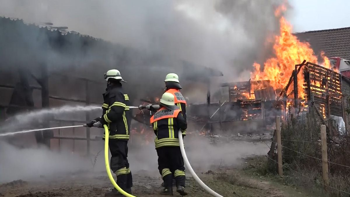 Scheunenbrand in Großheubach