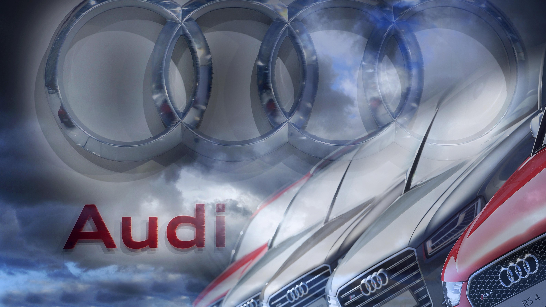 Audi Logo, Schriftzug und Fahrzeuge