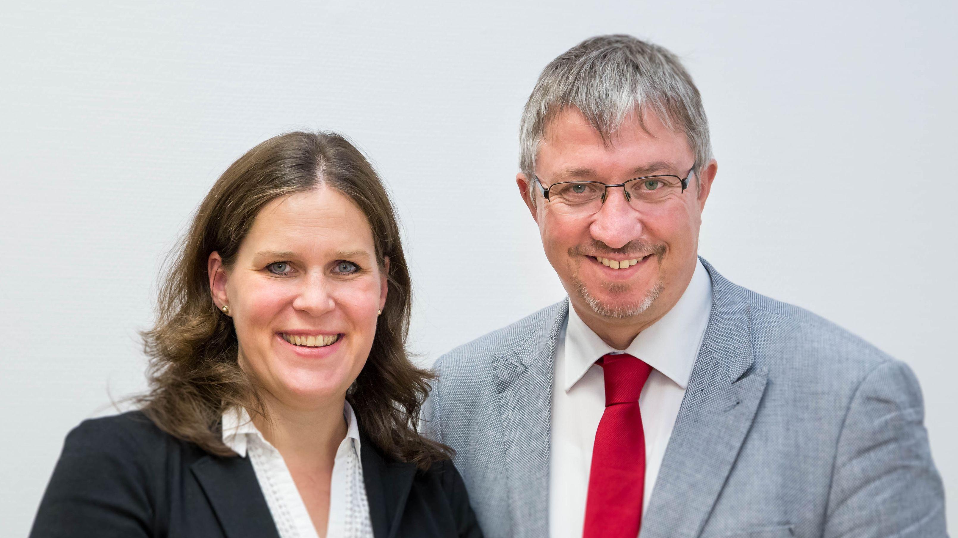 Die neue Doppelspitze der SPD in München: Verena Dietl und Christian Müller