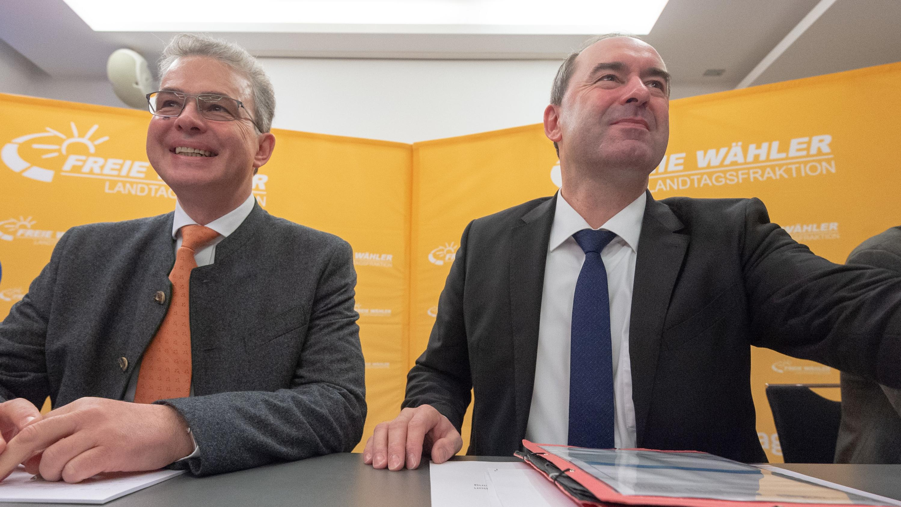 Hubert Aiwanger und Florian Streibl eröffnen die Winterklausur der Landtagsfraktion der Freien Wähler