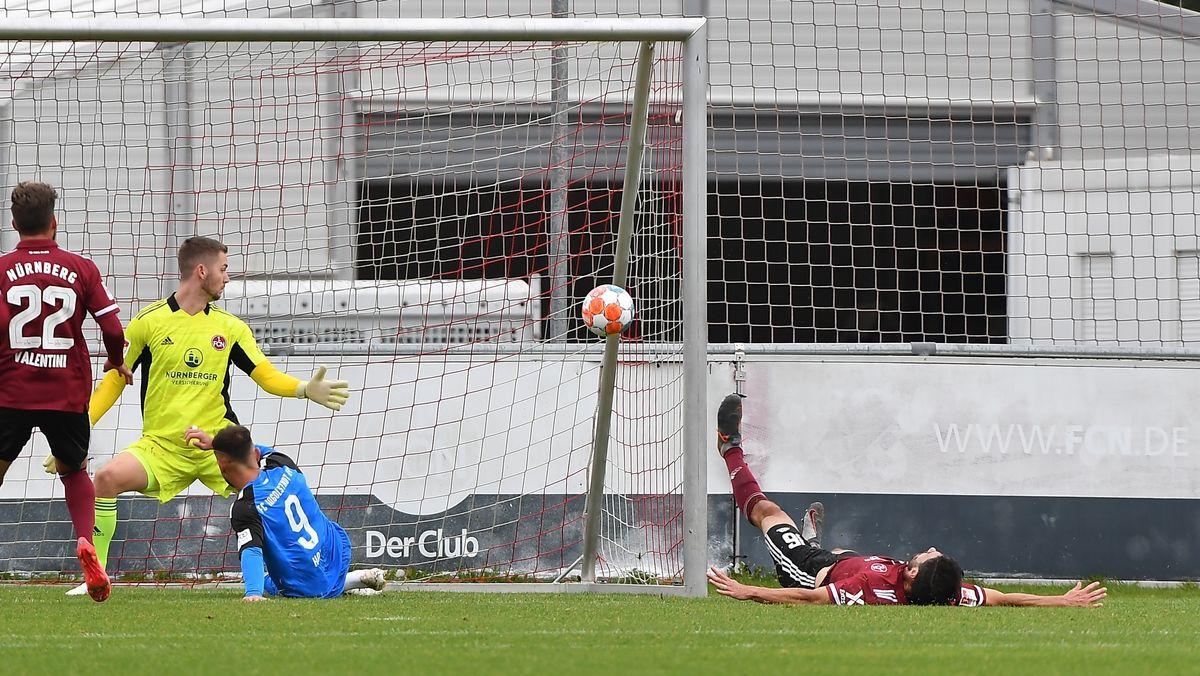 Ein Ingolstädter Tor im Testspiel beim 1. FC Nürnberg