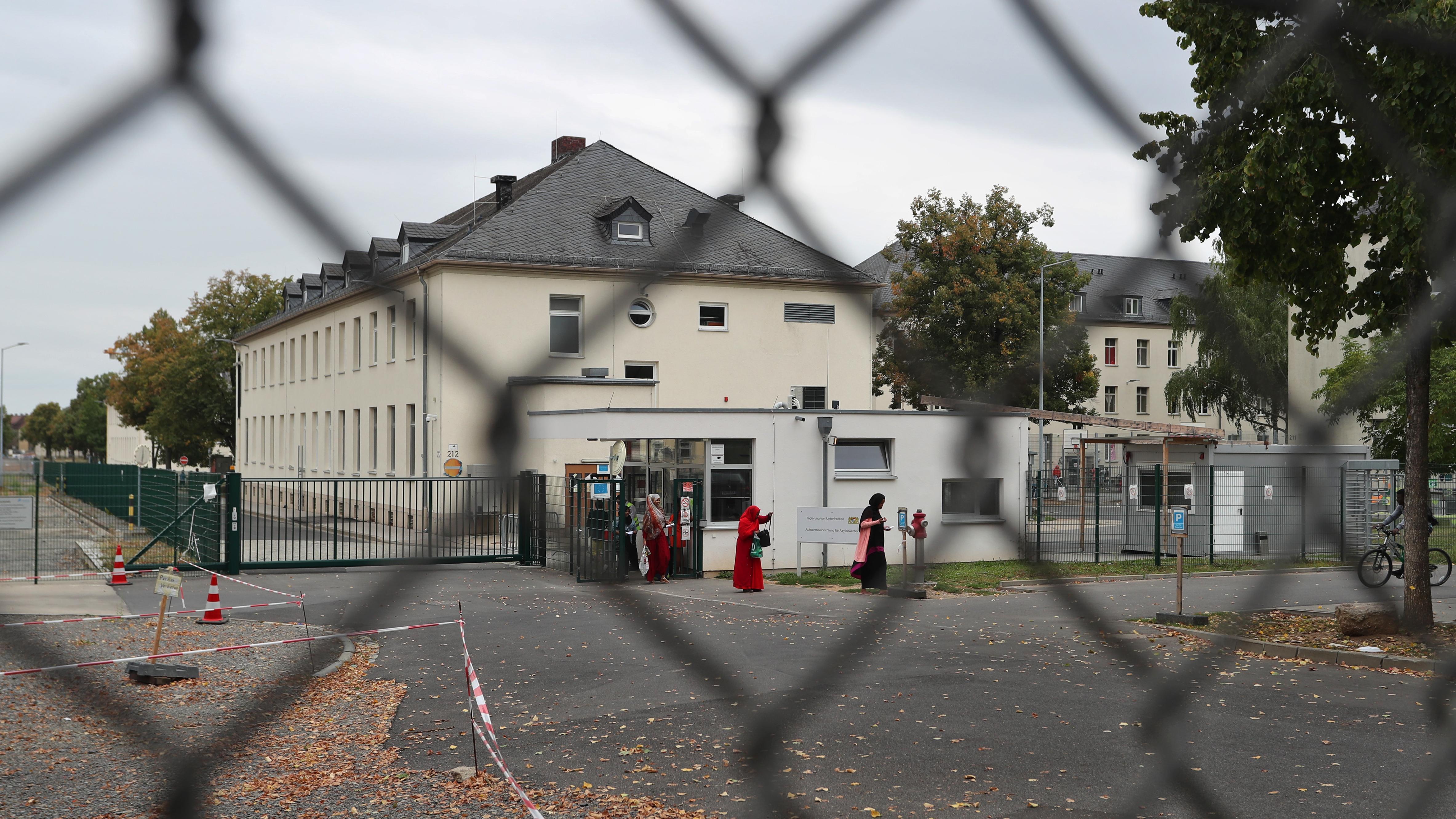 Die Pforte des Ankerzentrums Schweinfurt.