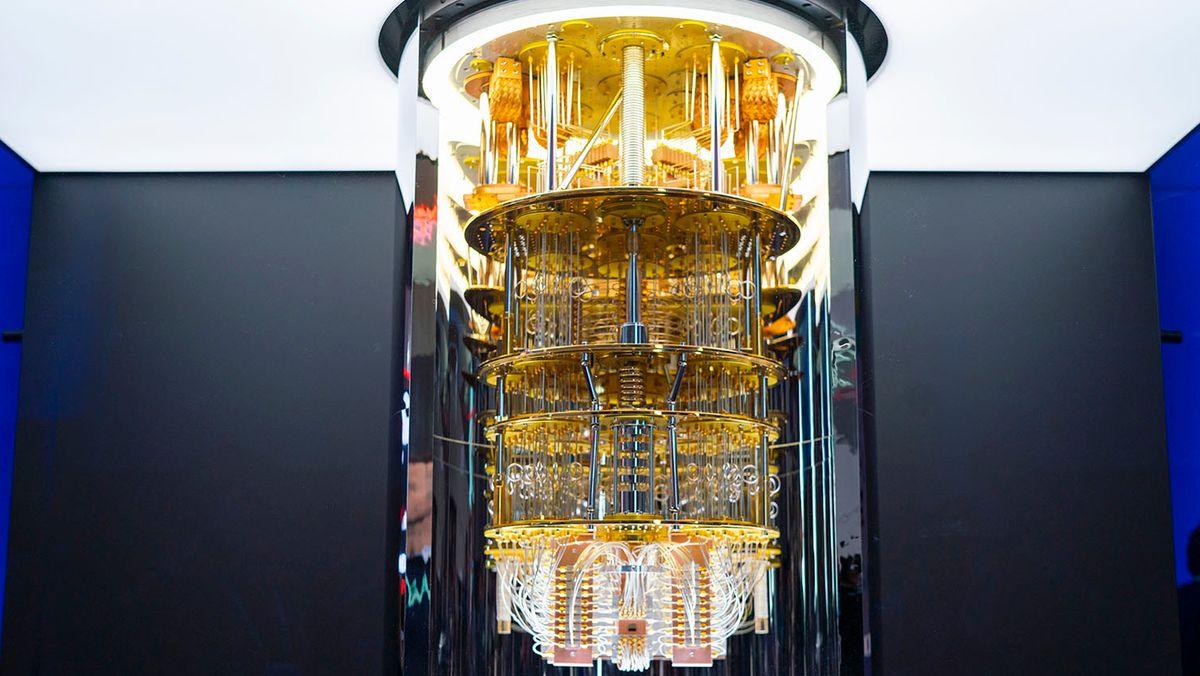 Die fünf Etagen eines Quantencomputers von IBM