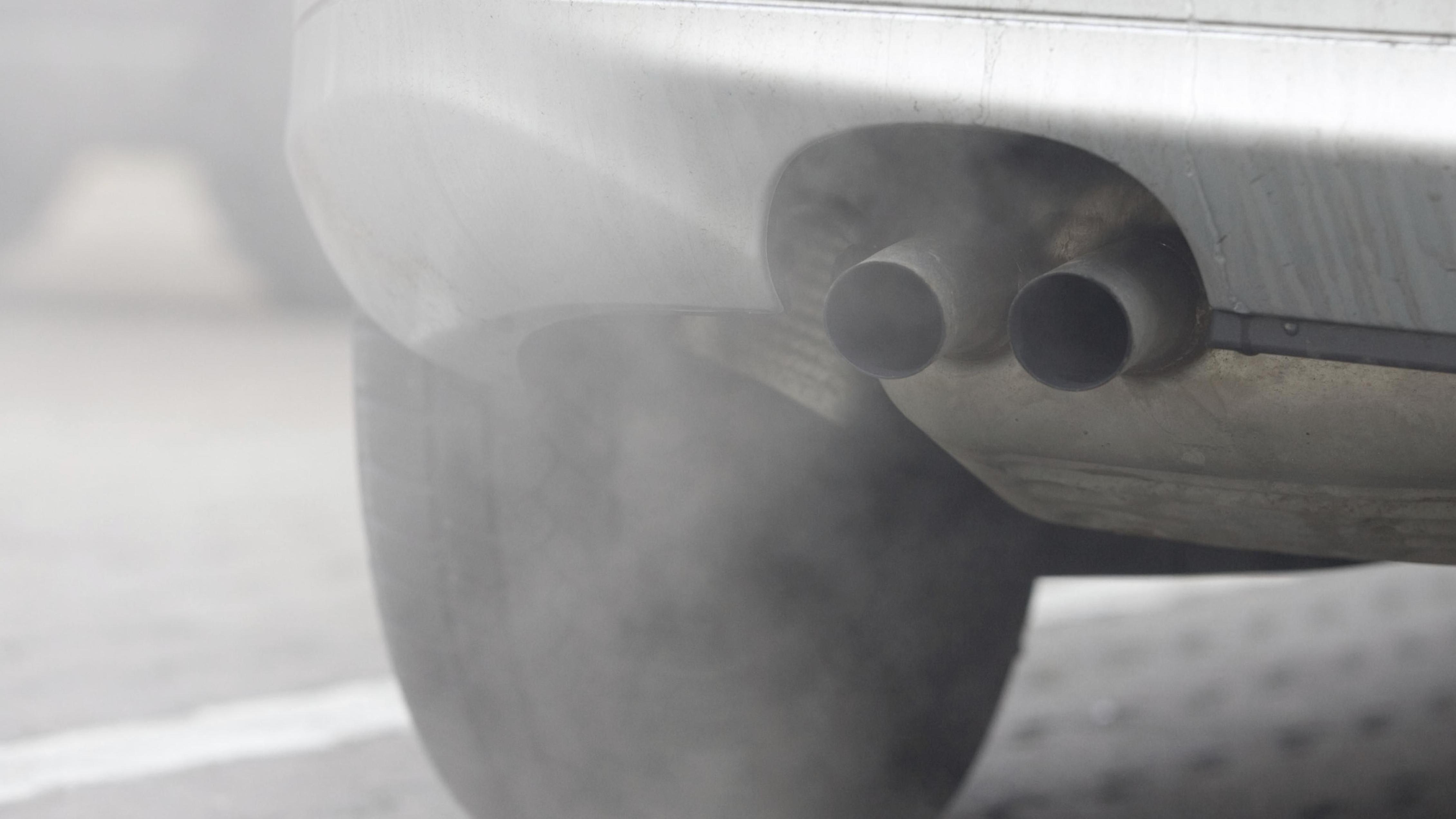 Auspuff eines Diesel-Fahrzeugs