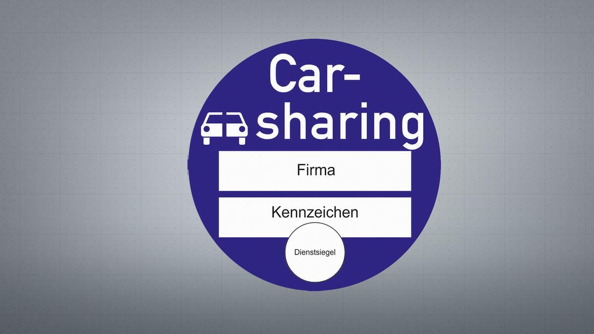 Carsharing-Plakette.