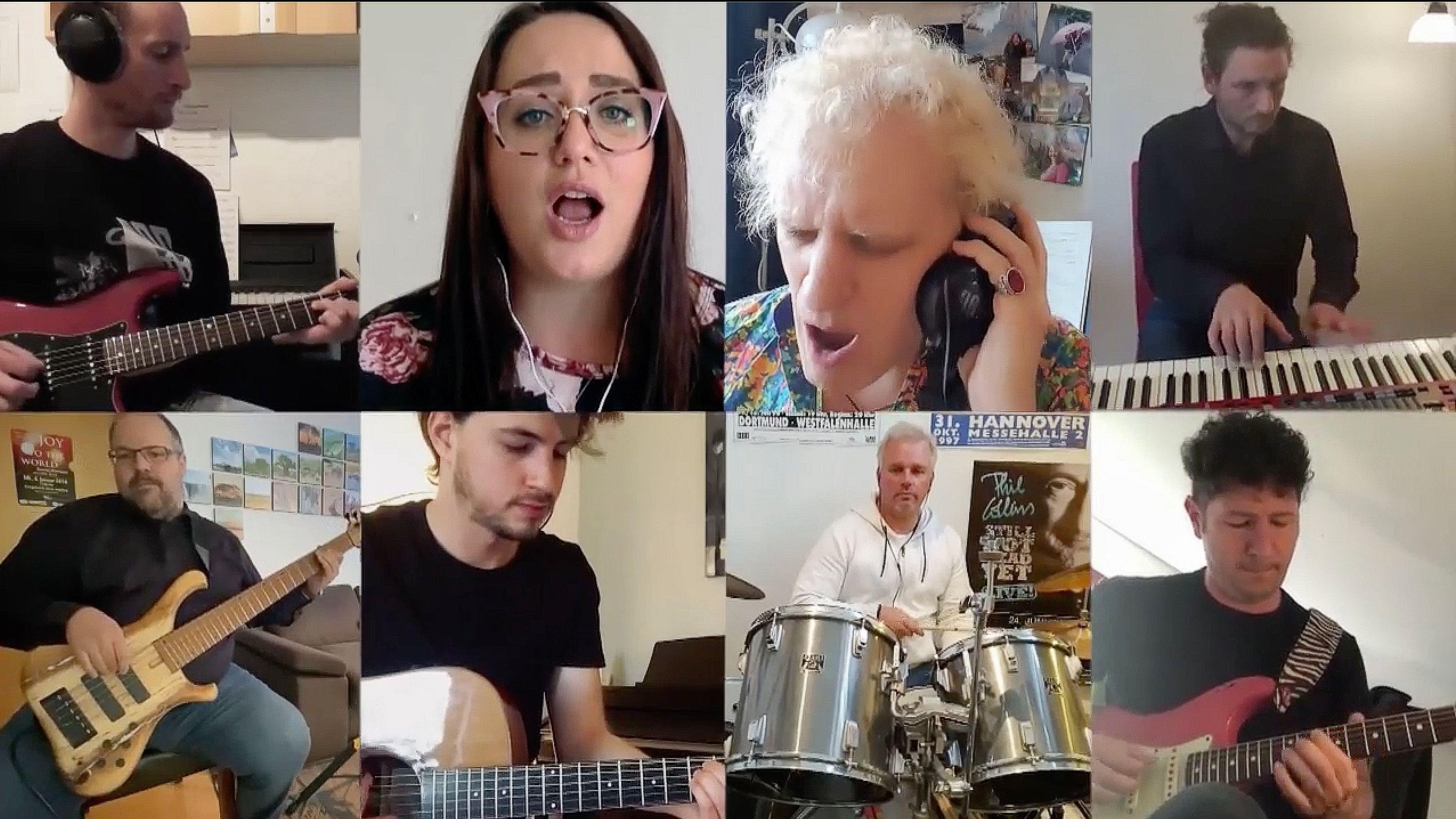 Splitscreen aus Bildern von musizierenden Menschen