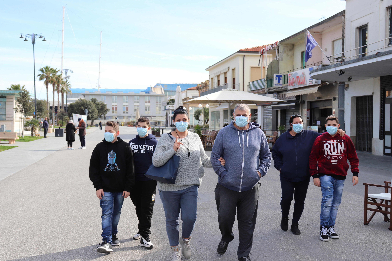 Passanten in Viareggio