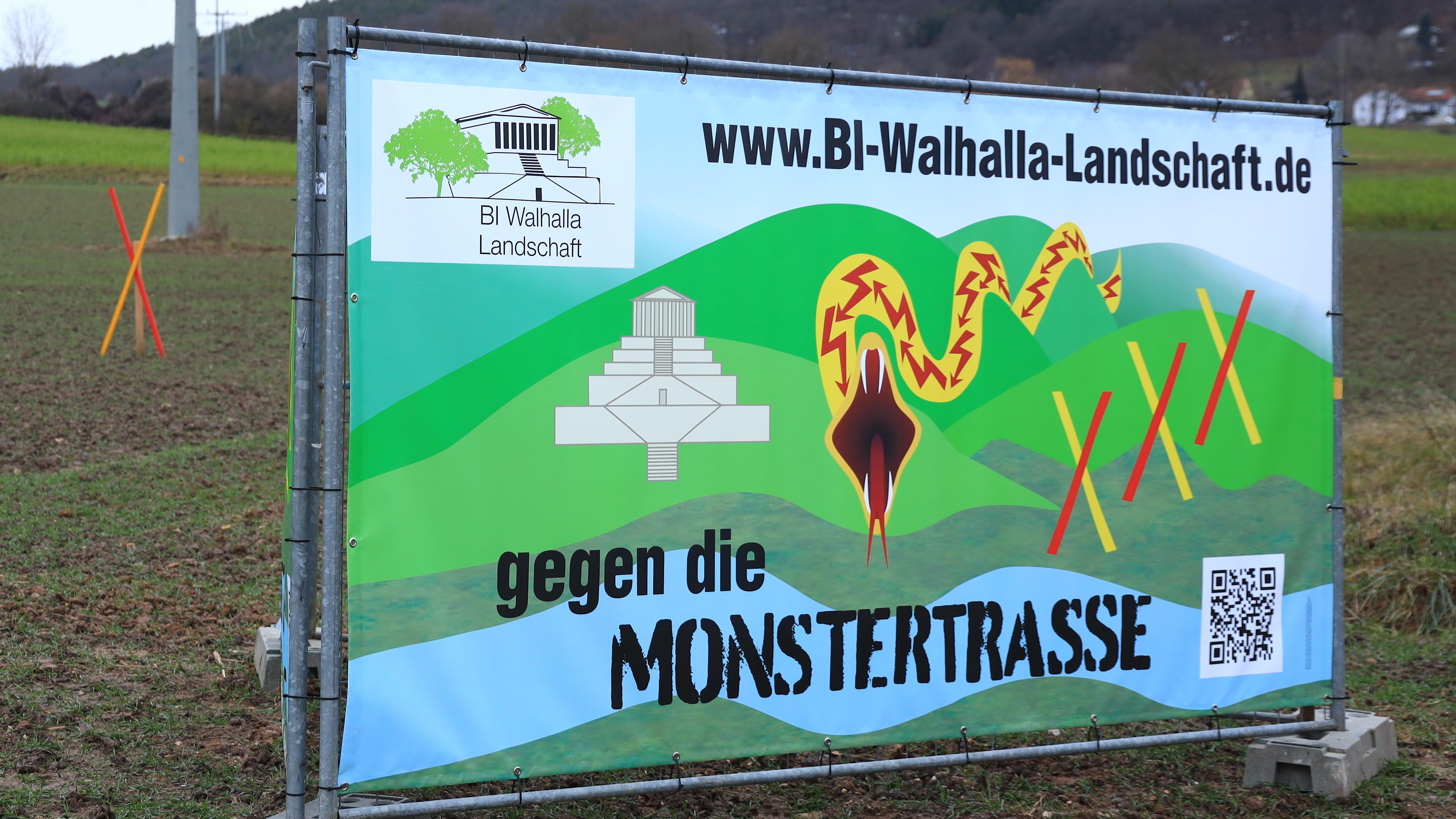 Protest-Transparent bei Sulzbach an der Donau
