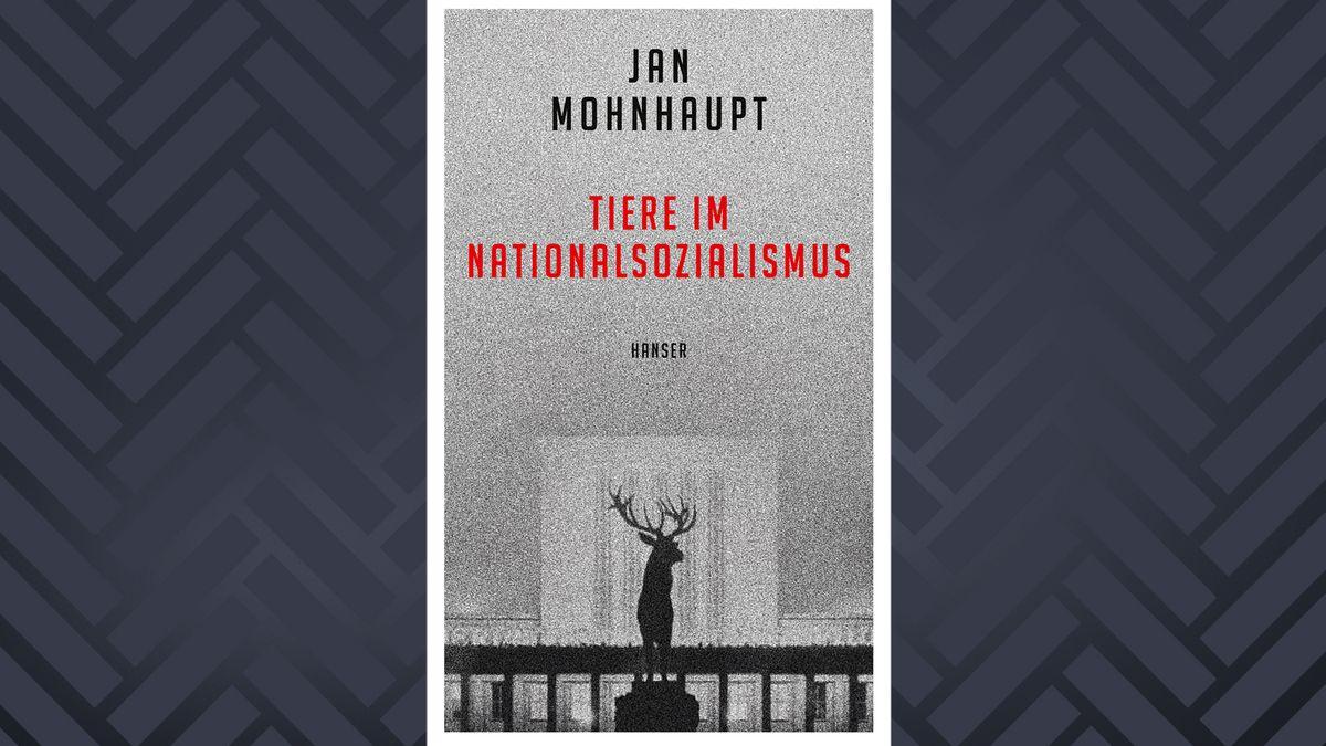 Buchcover mit Hirsch vor grauem Hintergrund