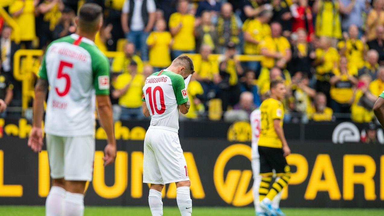 Enttäuschte Augsburger Spieler