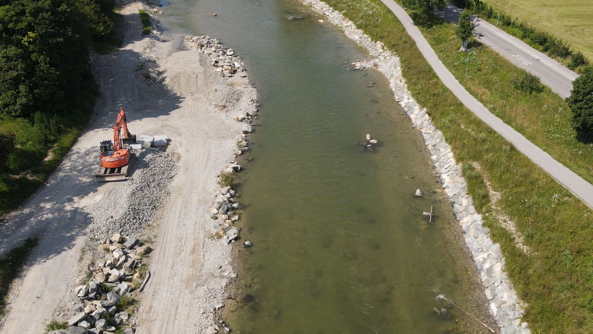 Hochwasserschutz wird derzeit verbessert an der Ammer