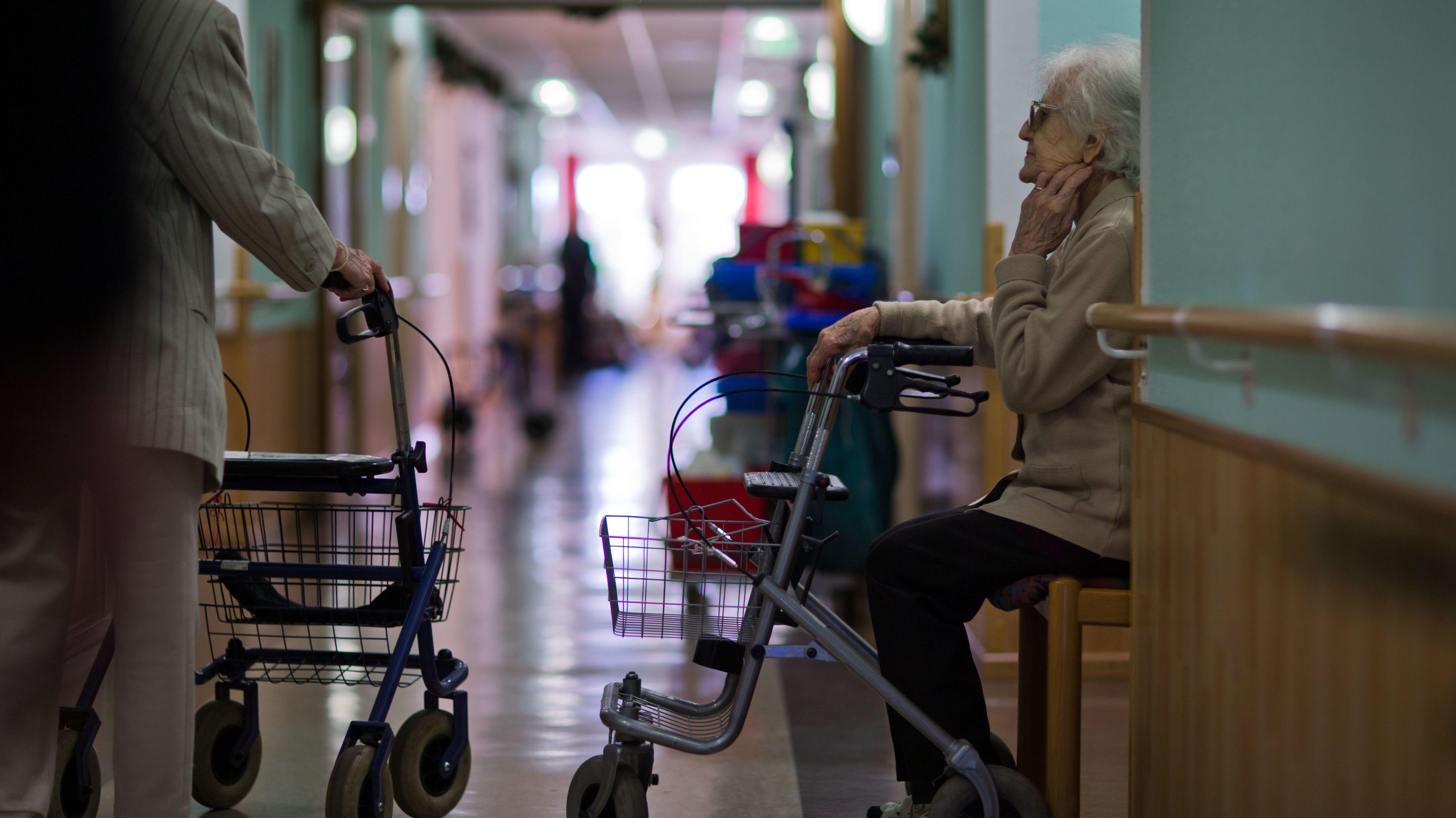 Bewohner eines Alten- und Pflegeheimes (Symbolbild)