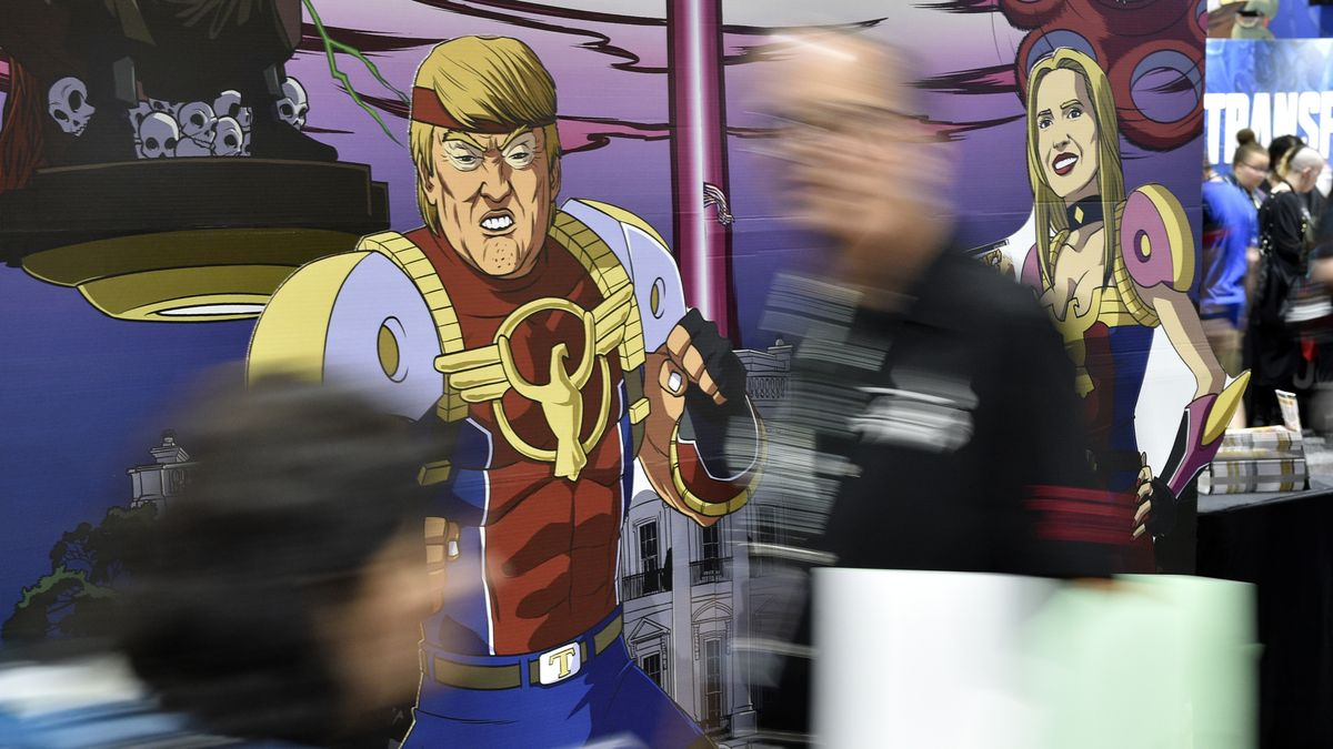 "Comic-Figuren der ""Trump's Titans"""