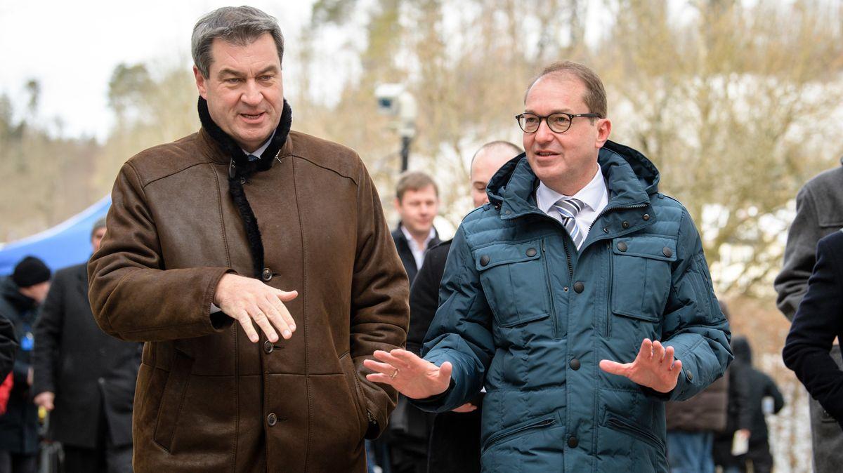 CSU-Chef Söder und Landesgruppenchef Dobrindt bei der Klausur im letzten Jahr in Kloster Seeon