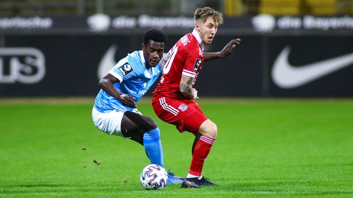 Szene aus dem Spiel TSV 1860 München gegen SpVgg Unterhaching