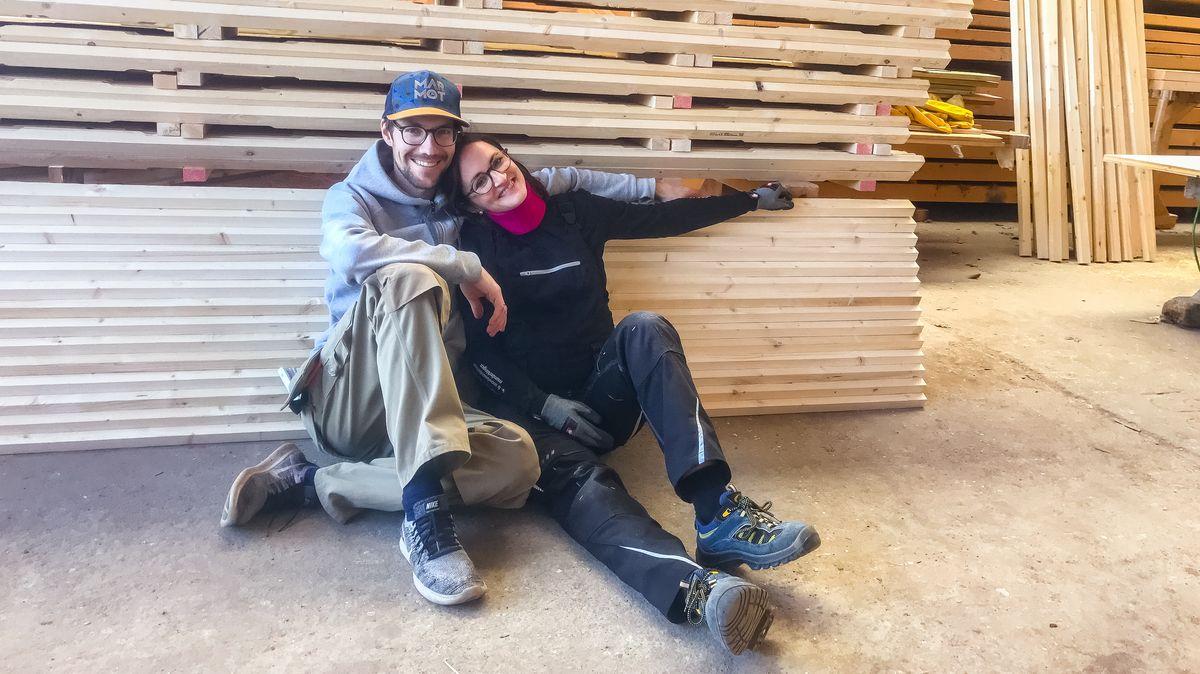 Das Architektenpaar Maria und Tom Horejschi.