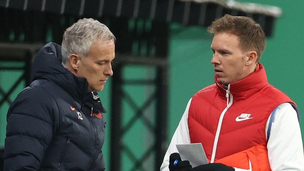 Julian Nagelsmann (r) und Xaver Zembrod