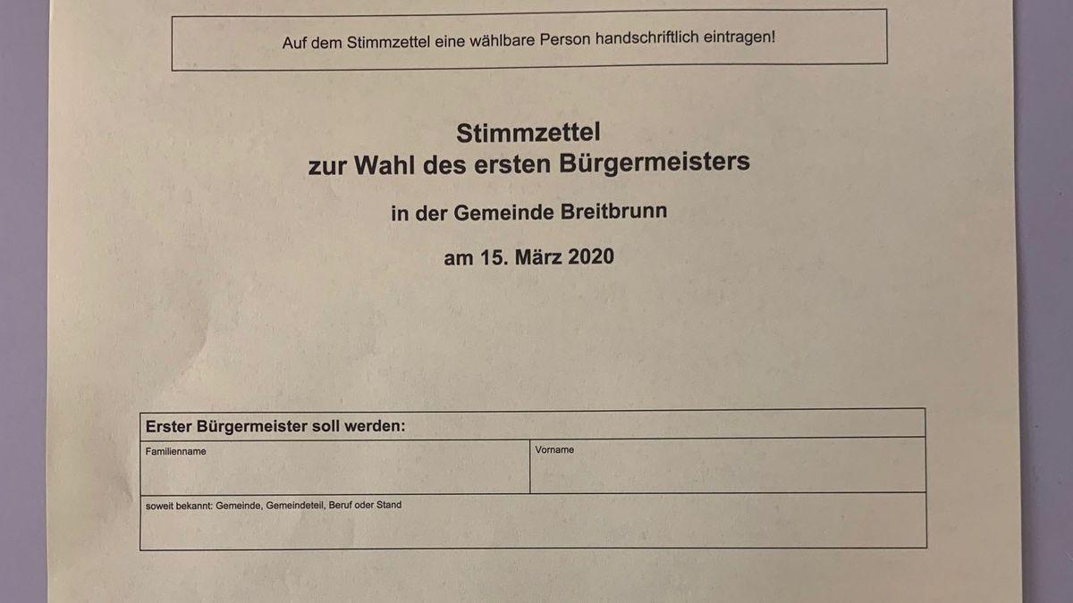 Stimmzettel in Breitbrunn