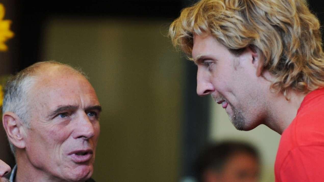 Holger Geschwindner und Dirk Nowitzki