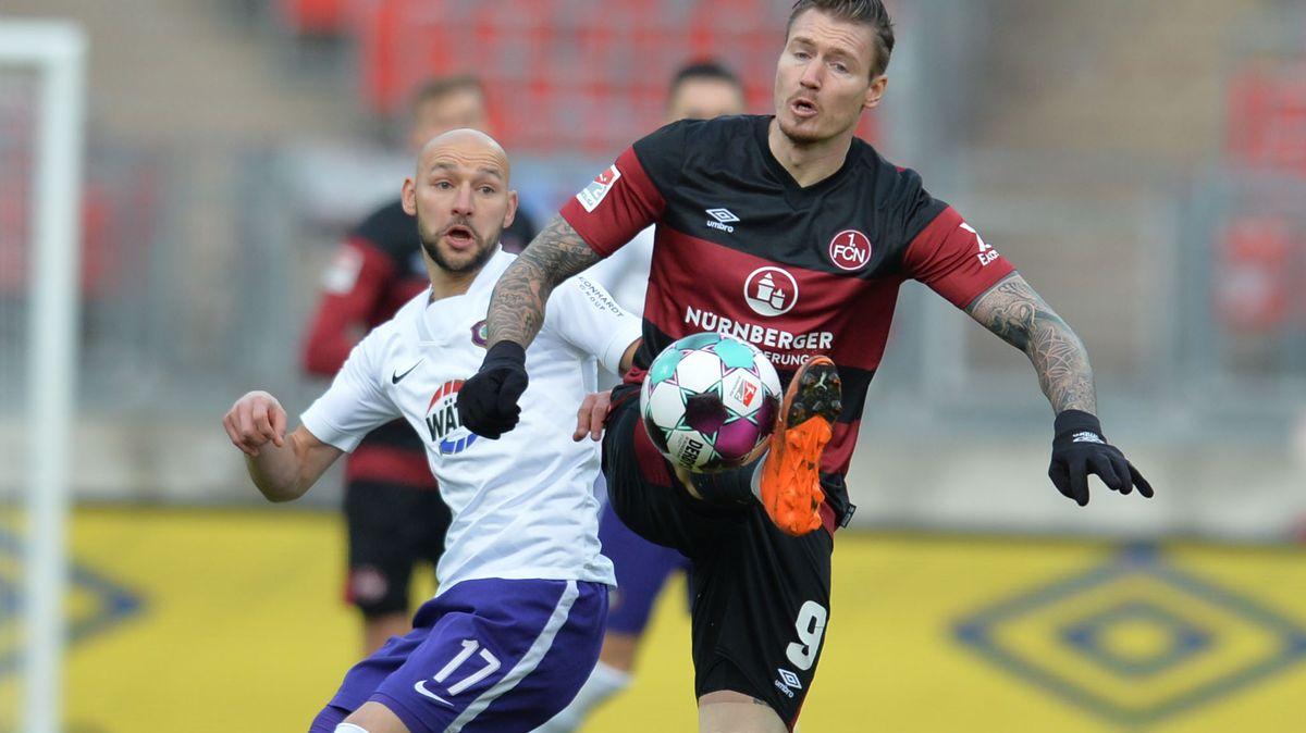 Spielszene 1. FC Nürnberg - Erzgebirge Aue