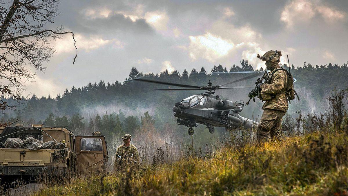 Gefechtsübung der US-Truppen in Grafenwöhr (2017)