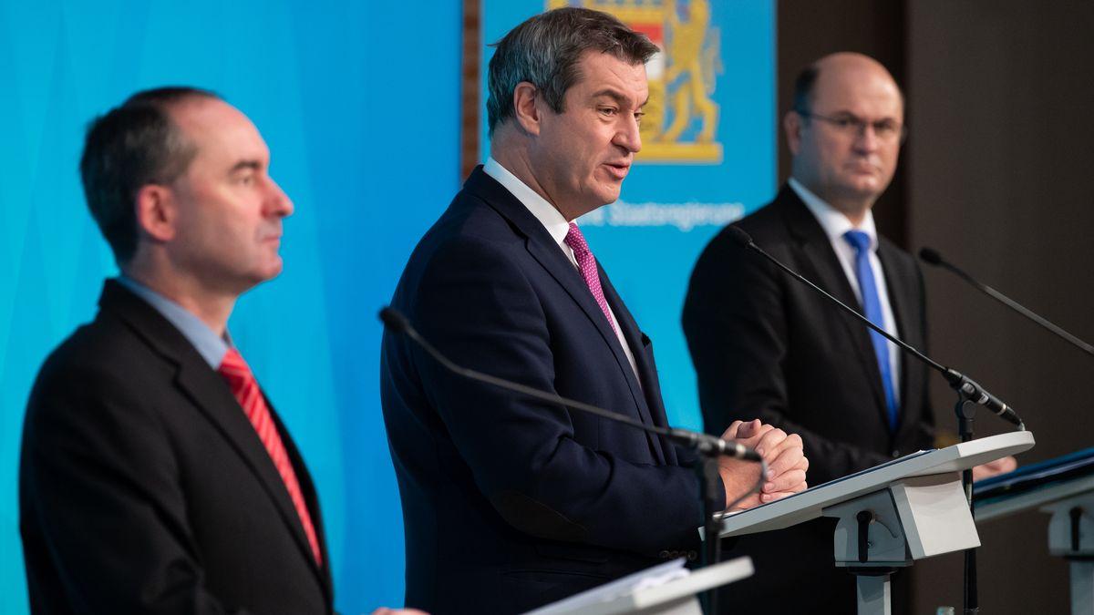 Ministerpräsident Söder und die Minister Aiwanger und Füracker