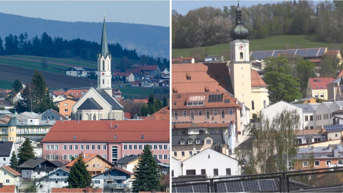 Die Städte Freyung und Grafenau im Bayerischen Wald