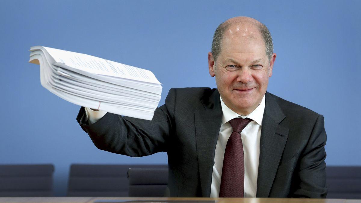 Bundesfinanzminister Scholz gab am Montag eine Pressekonferenz zum Hilfspaket der Bundesregierung für Betroffene der Corona-Krise.