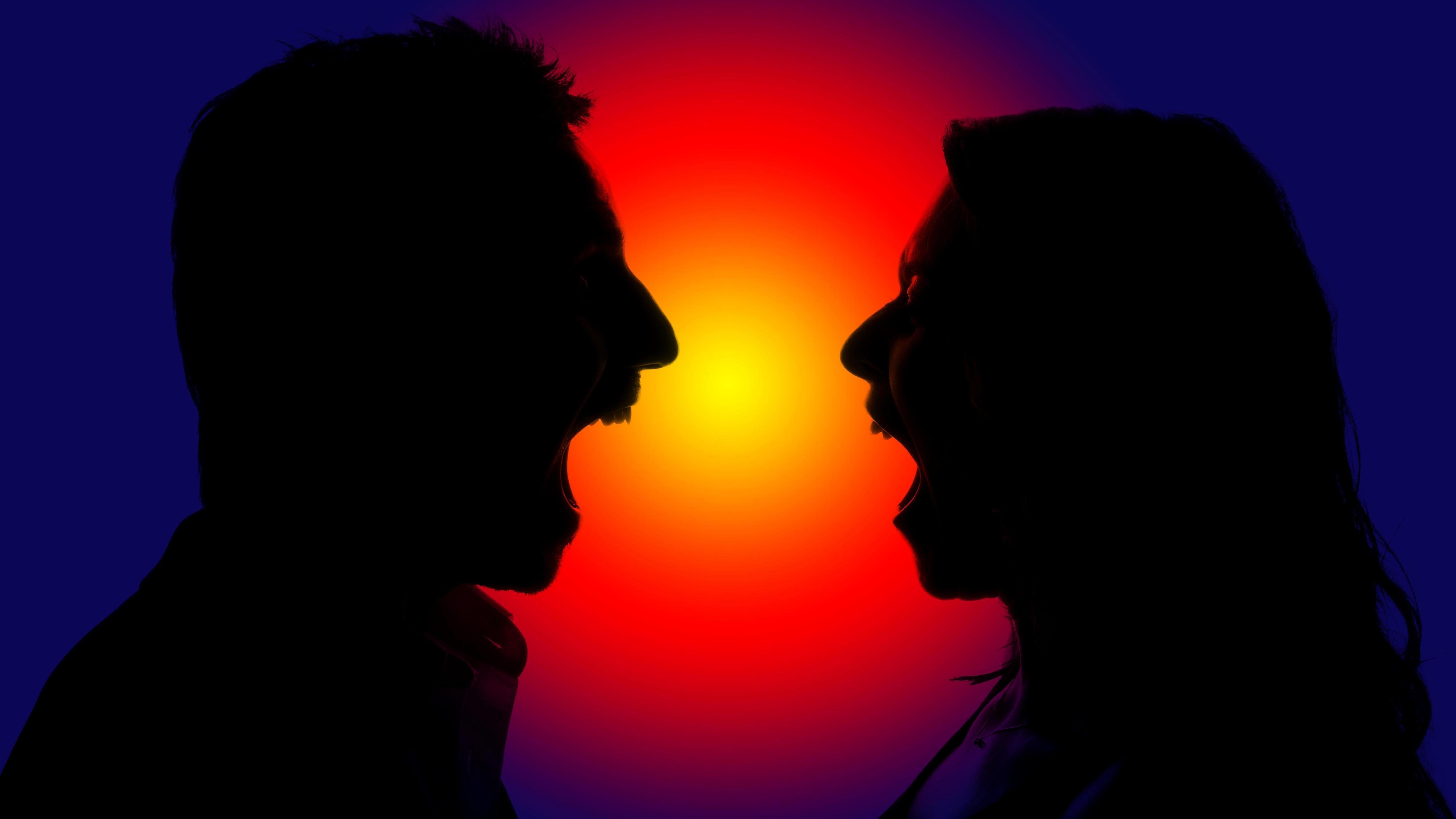 Symbolbild Streit eines Paares