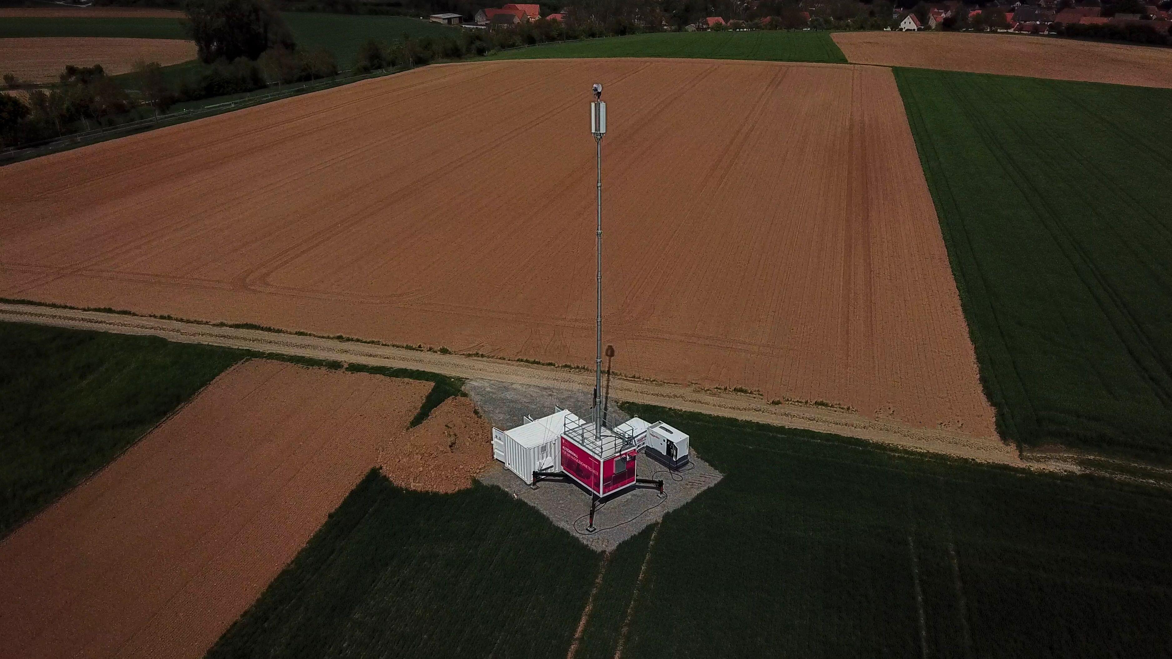 Mobilfunkmast mit Brennstoffzelle bei Dettelbach