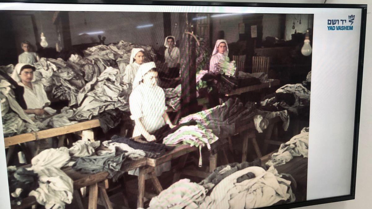 Foto aus der Wäscherei im Ghetto von Lodz in Polen.