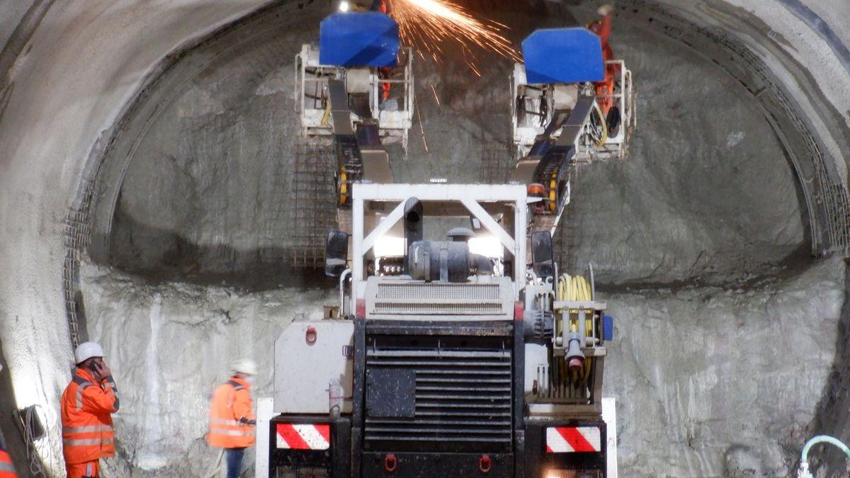 Tunnelarbeiten an der U3 in Nürnberg