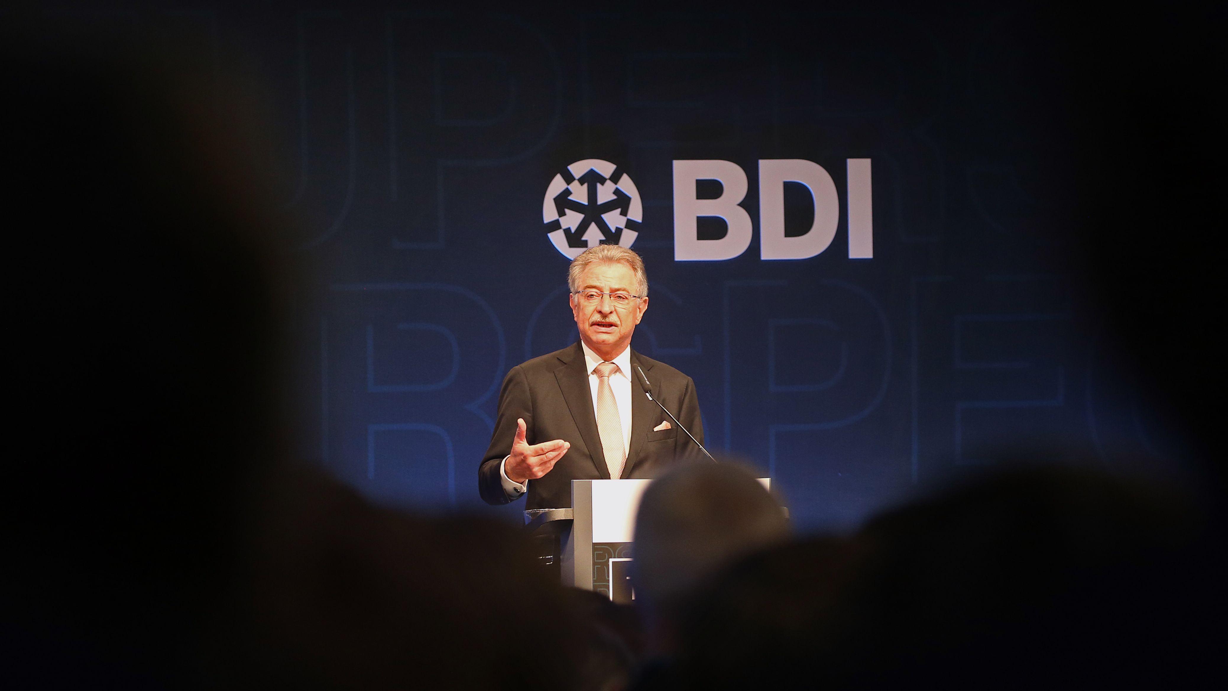 BDI -Präsident, Dieter Kempf bei einer Verbandstagung