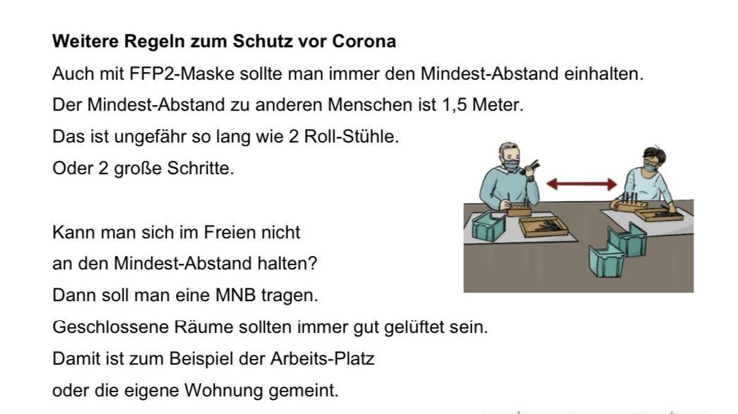 Corona-Regeln in Leichter Sprache