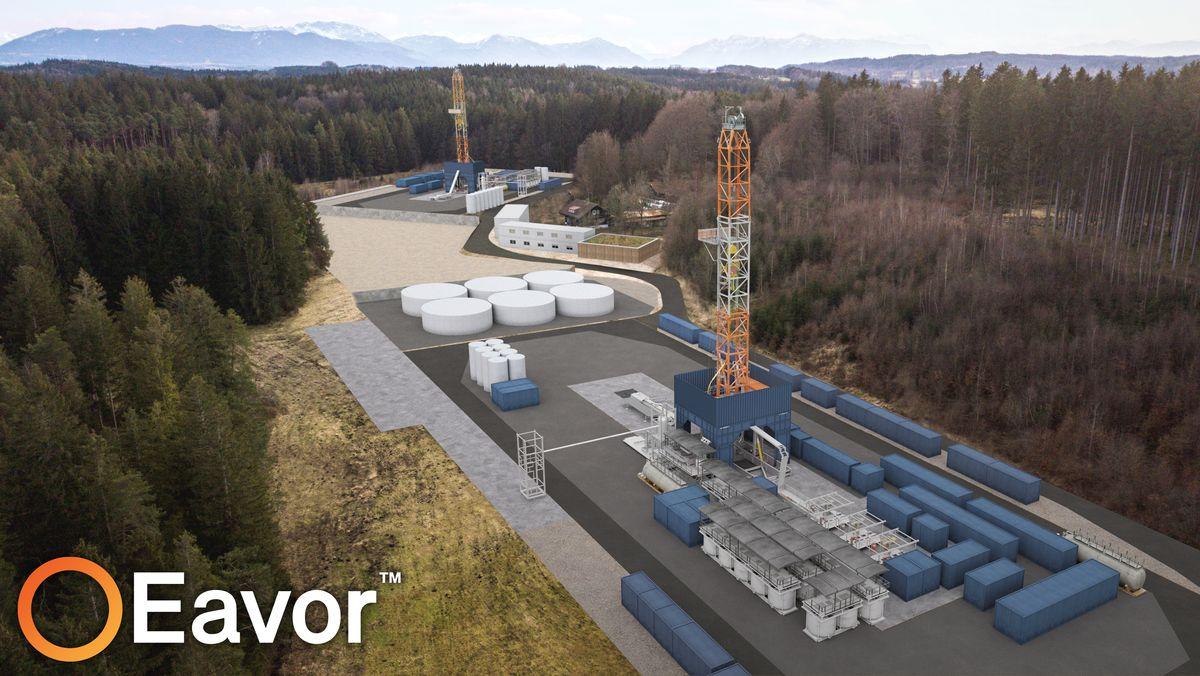 Geothermieprojekt der Firma Eavor. (Entwurf)