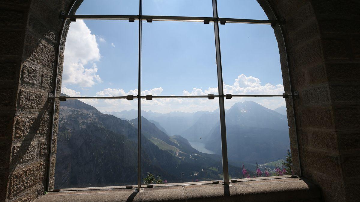 Blick aus dem Kehlsteinhaus am Obersalzberg