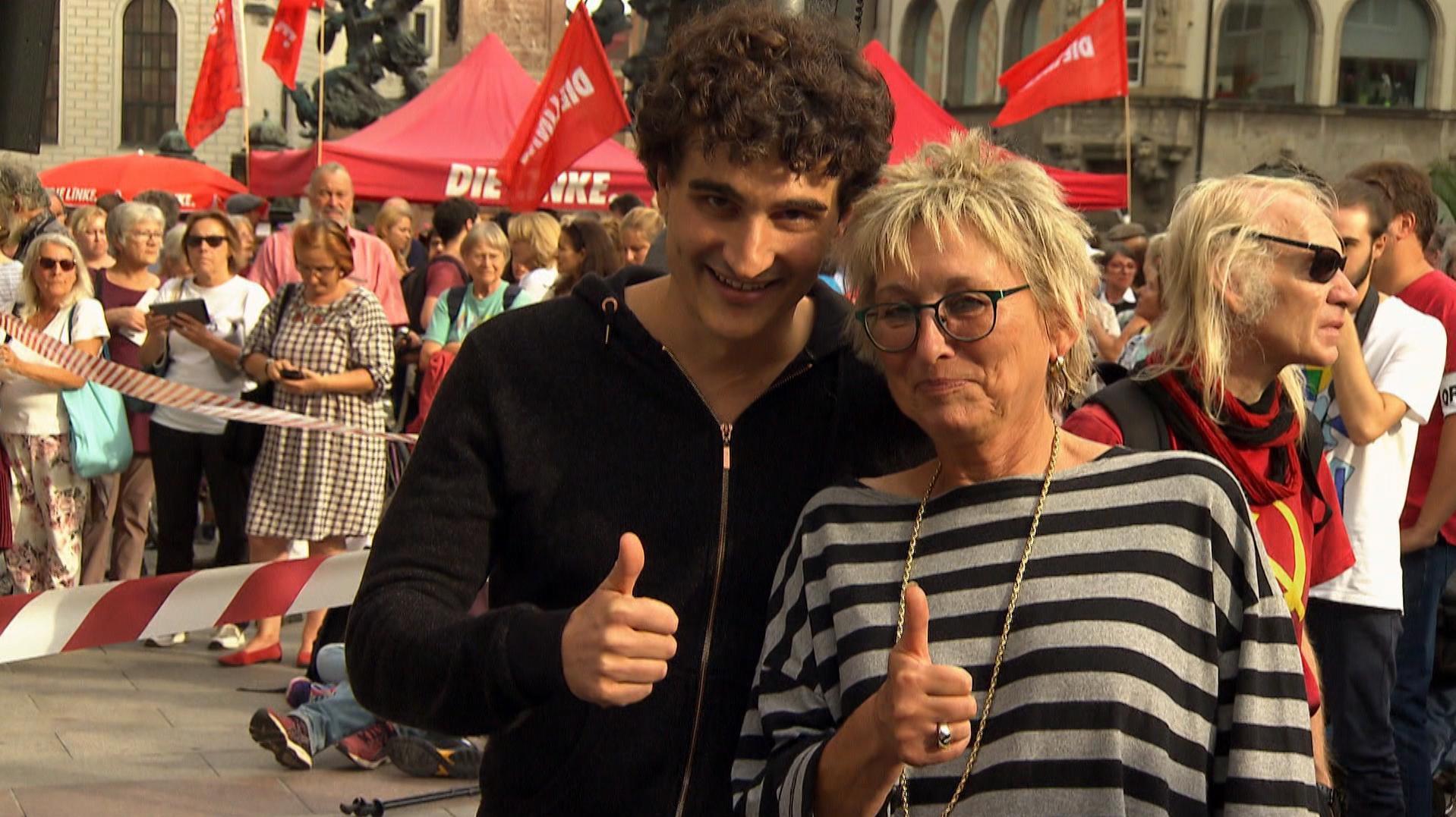 Ates Gürpinar und Eva Bulling- Schröter sind die Spitzenkandidaten der bayerischen Linken