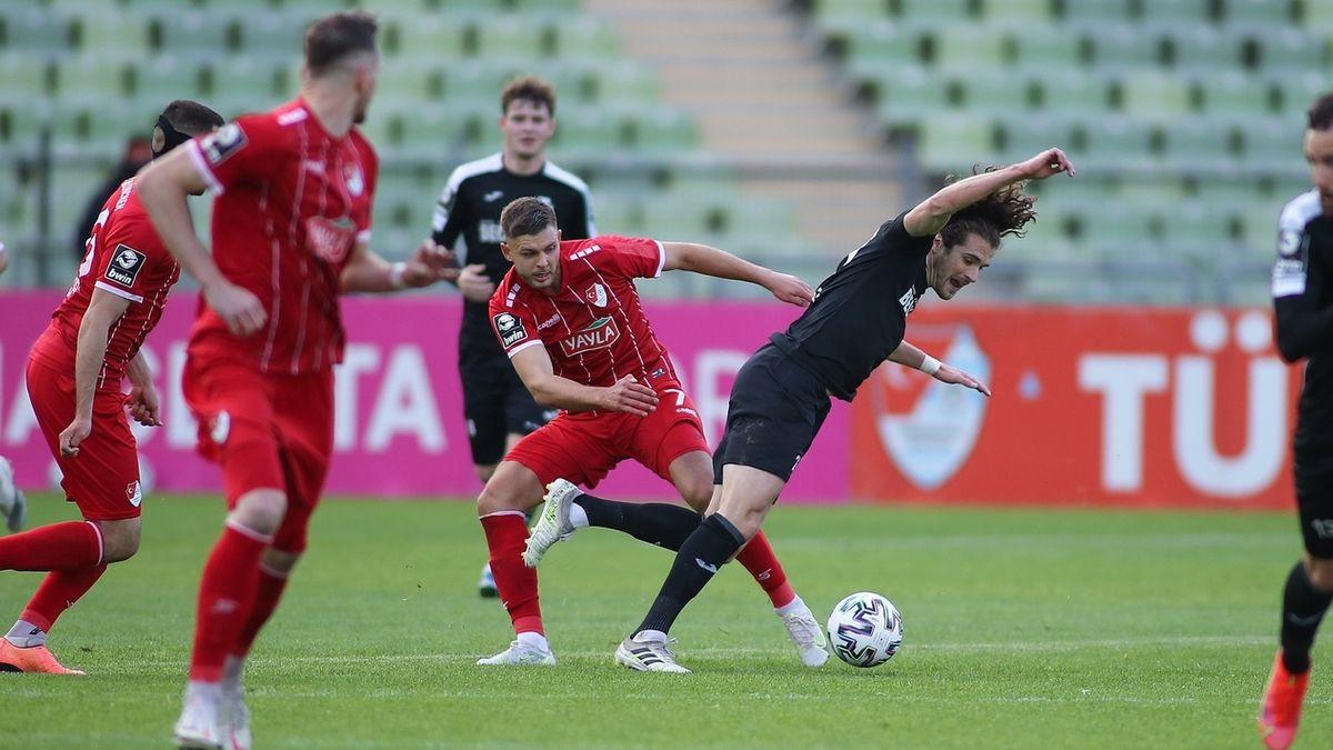 Spielszene Türkgücü München - SC Verl