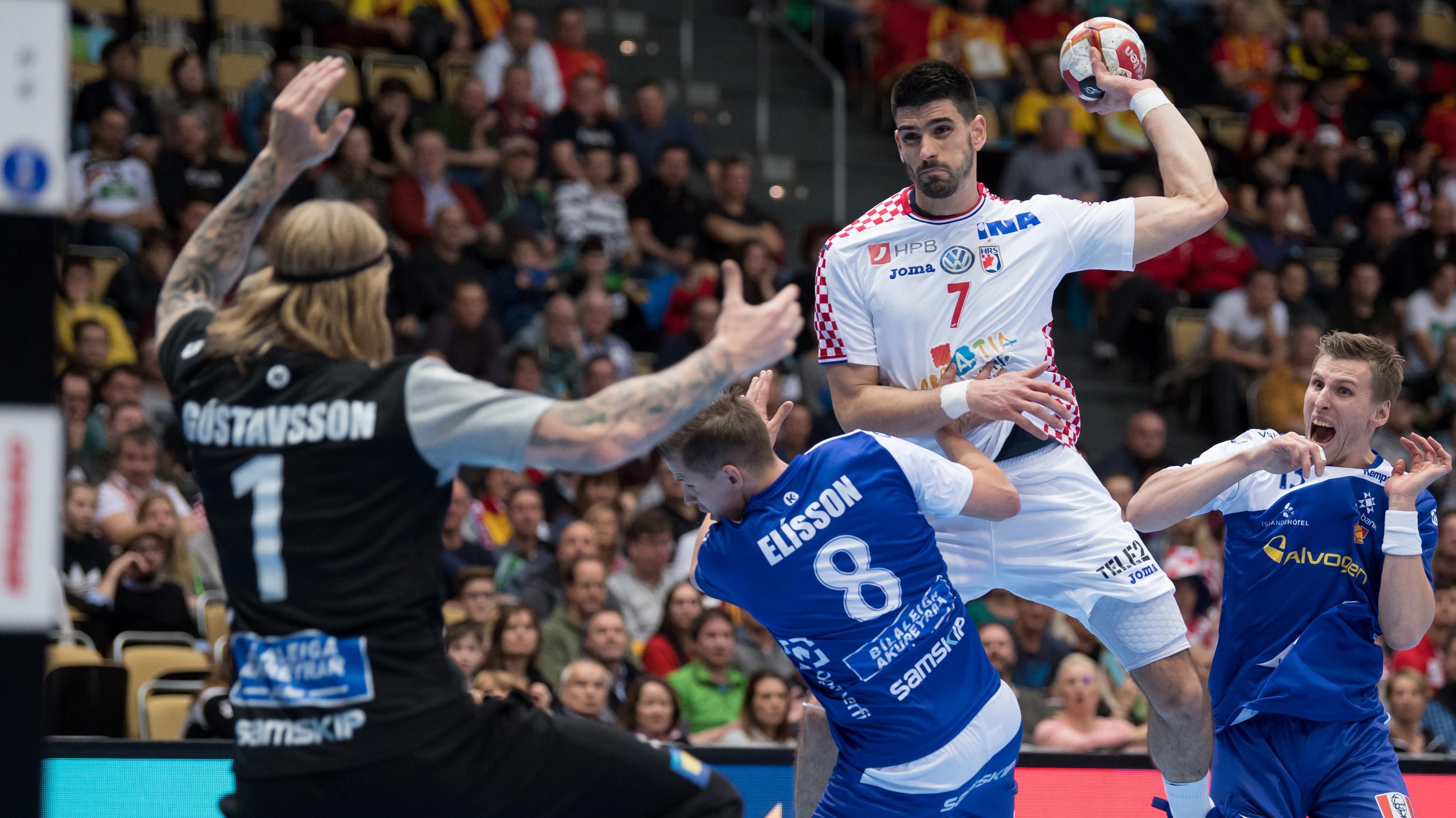 Szene aus dem Spiel Kroatien gegen Island