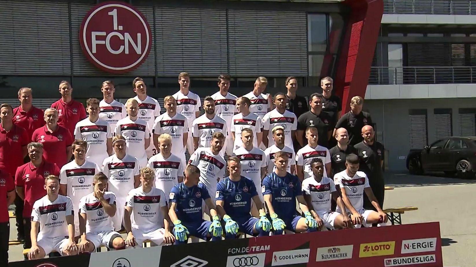 Mannschaftsfoto des 1. FC Nürnberg